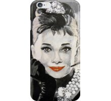 Audrey in Breakfast at Tiffanys iPhone Case/Skin