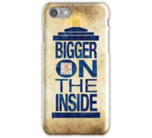It's Bigger on the Inside - Tardis Grunge iPhone Case/Skin