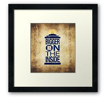 It's Bigger on the Inside - Tardis Grunge Framed Print
