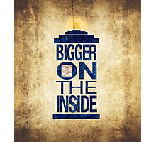 It's Bigger on the Inside - Tardis Grunge Photographic Print