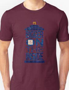 It's Bigger on the Inside - Tardis Grunge Unisex T-Shirt