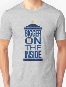 It's Bigger on the Inside - Tardis Grunge T-Shirt