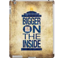 It's Bigger on the Inside - Tardis Grunge iPad Case/Skin