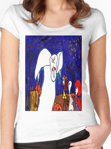 You stop eating my Pumpkin people friends! Women's Fitted Scoop T-Shirt