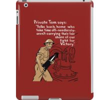 Private Tom -- World War Two Poster iPad Case/Skin