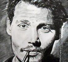 Johnny Depp (IPhone Case) by Antonio  Luppino