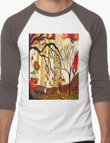 Halloween Forest Men's Baseball ¾ T-Shirt