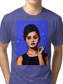 Jenna Coleman a.k.a Clara Oswald Tri-blend T-Shirt