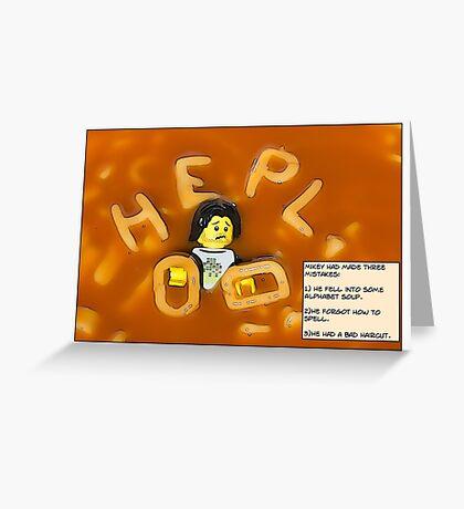 Alphabet Soup. Greeting Card