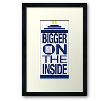 It's Bigger on the Inside - Tardis Framed Print