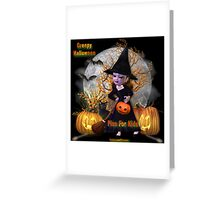 Creepy Halloween - Pics For Kids Greeting Card