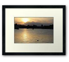 Epcot Lake Framed Print