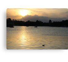 Epcot Lake Canvas Print
