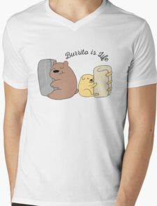 Burrito is Life Mens V-Neck T-Shirt