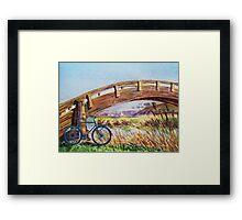Bicycle Bridge Marina  Framed Print