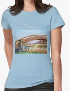 Bicycle Bridge Marina  Womens Fitted T-Shirt