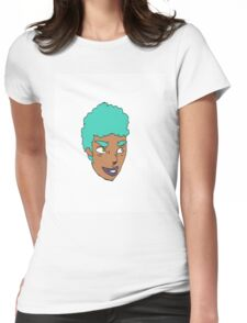 Blue Green Mean Womens Fitted T-Shirt
