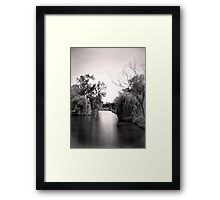 Black and White Park Framed Print