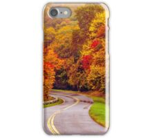 autumn morning on blue ridge parkway iPhone Case/Skin