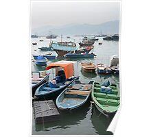 Fishing boats of Cheung Chau, Hong Kong Poster