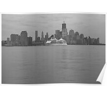 Regent Cruise Ship Seven Seas Navagator On The Hudson River Poster