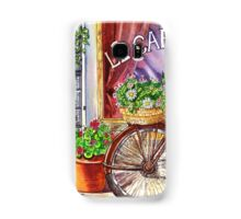 French Cafe And Bicycle With Basket Samsung Galaxy Case/Skin