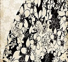 Floral Black & White Lace by antsp35