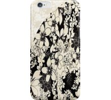 Floral Black & White Lace iPhone Case/Skin