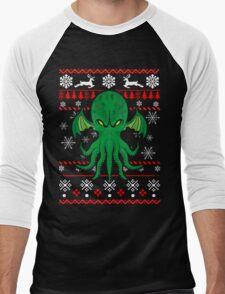 Cthulhu Ugly Christmas Sweater Men's Baseball ¾ T-Shirt