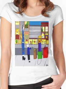 Shopping bag lady Women's Fitted Scoop T-Shirt