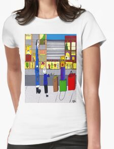 Shopping bag lady Womens Fitted T-Shirt