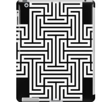 Geometric Maze Pattern Swastika - White iPad Case/Skin