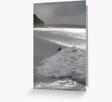 Sparkling Surf Greeting Card