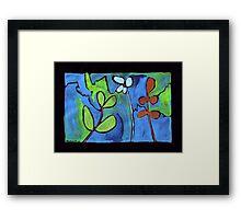 Midnight Garden cycle7 7 Framed Print