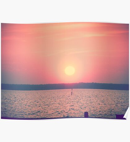 Sunset at Lake Waccamaw, NC Poster