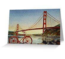 Bicycle In San Francisco Greeting Card