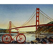 Bicycle In San Francisco Photographic Print
