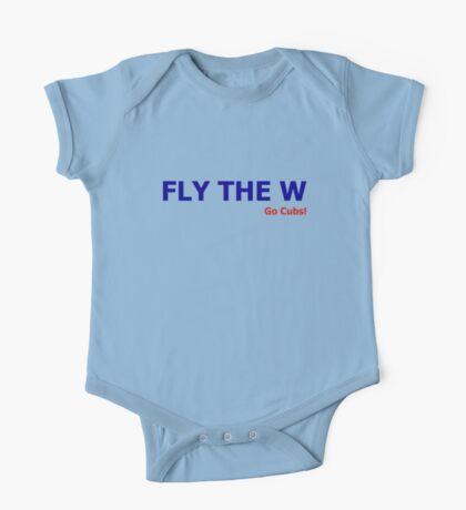 Fly the W (Go Cubs!) One Piece - Short Sleeve