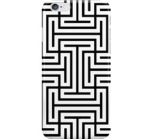 Geometric Maze Pattern Swastika - White iPhone Case/Skin