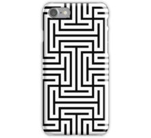 Geometric Maze Pattern Swastika - White iPhone Case/Skin