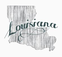Louisiana State Typography One Piece - Short Sleeve