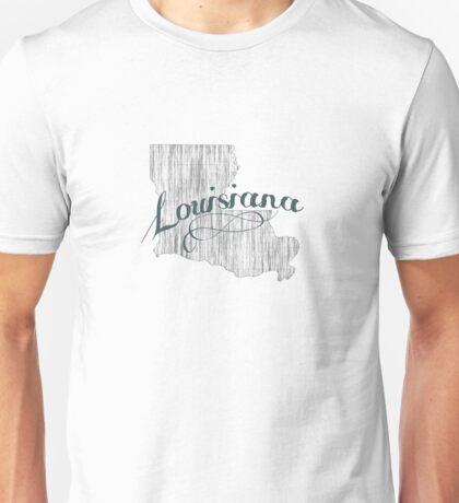 Louisiana State Typography Unisex T-Shirt