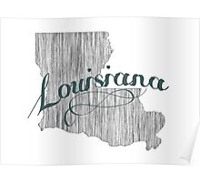 Louisiana State Typography Poster