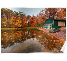 Autumn at Big Boulder Lake Poster