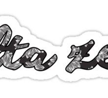 Delta Zeta Flowers Sticker