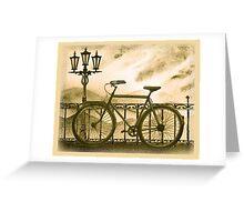 Retro Bicycle Greeting Card