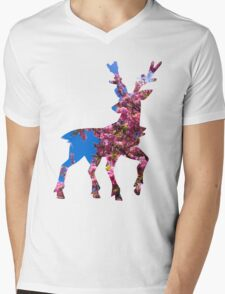 Sawsbuck (spring) used aromatherapy Mens V-Neck T-Shirt