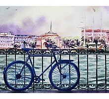 Bicycle Ride To The City Photographic Print