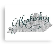 Kentucky State Typography Canvas Print