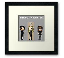 Select Leader Clarke Framed Print